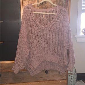 Free people lavender sweater